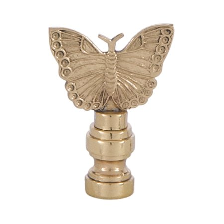 B&P Lamp® Cast Brass Butterly Lamp Finial (Metal Cast Finial)