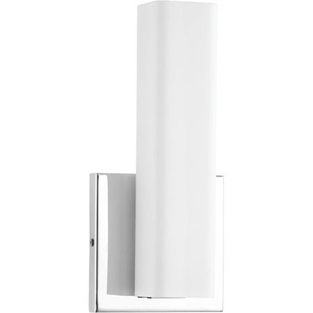 Beam Collection One-Light LED Wall Bracket, Polished Chrome Finish Polished Chrome Finish Wall