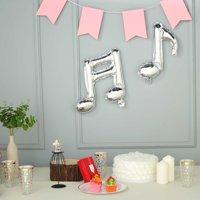 BalsaCircle 6 pcs Music Notes Mylar Foil Balloons - Wedding Graduation Event Birthday Reception Party Wholesale Decorations Supplies