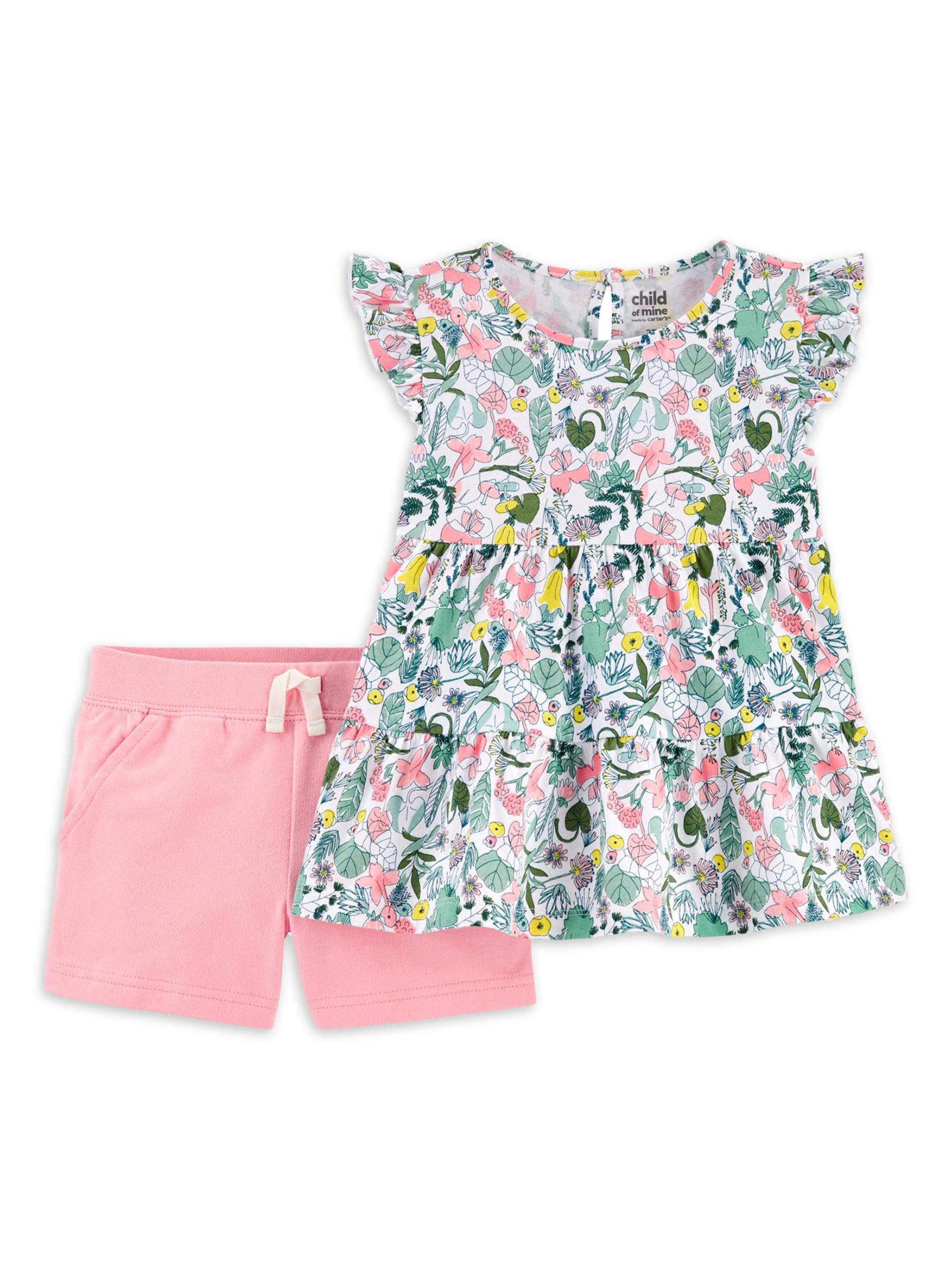 Owl Landscape Toddler Baby Girls Short Sleeve Ruffle T-Shirt
