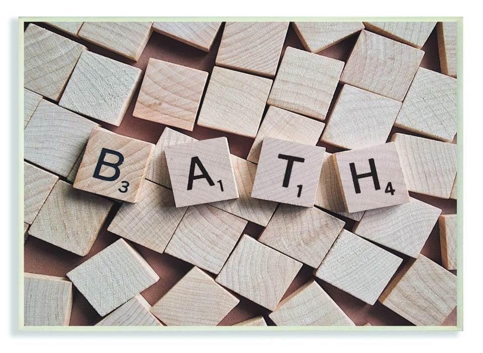 Scrabble Letters Bathroom Photograph