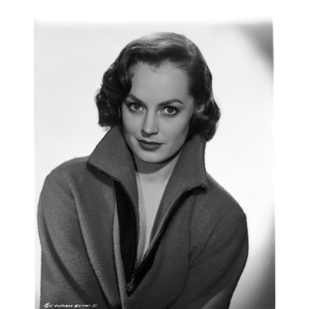 Victoria Shaw photographed in portrait wearing a wool three-quarter zipper jacket with the collar popped Photo (Portrait Collar Coat)