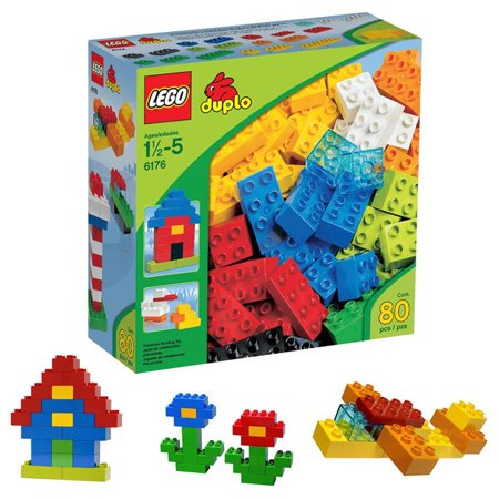 - lego duplo basic colorful bricks 80-pc 6176 toddler preschool building toy