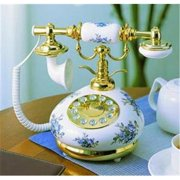 Novelty PORCELAIN-BLUE 9008 Porcelain Phone BLUE&WHIT