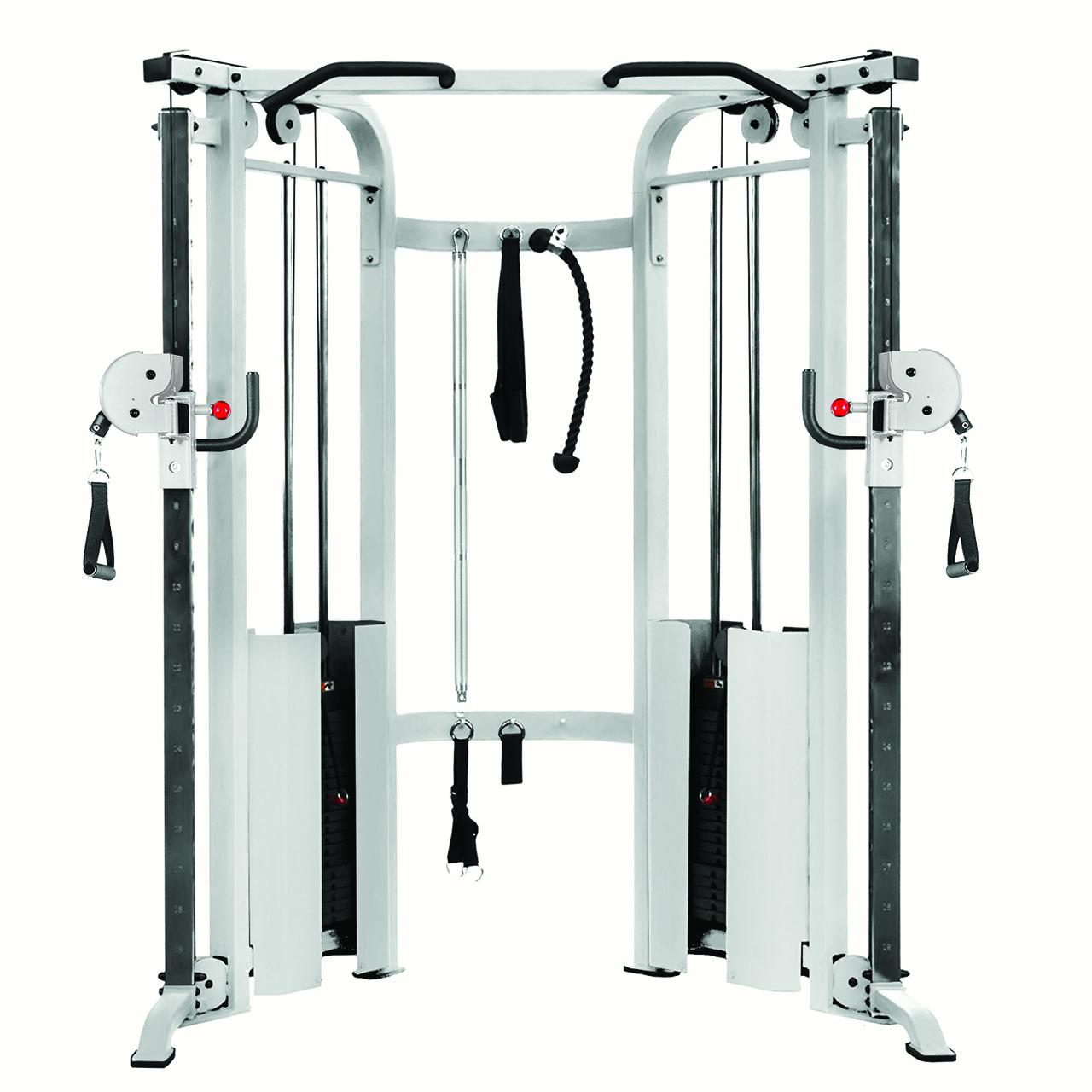 XMark Functional Cable Machine w/Dual Weight Stacks - White