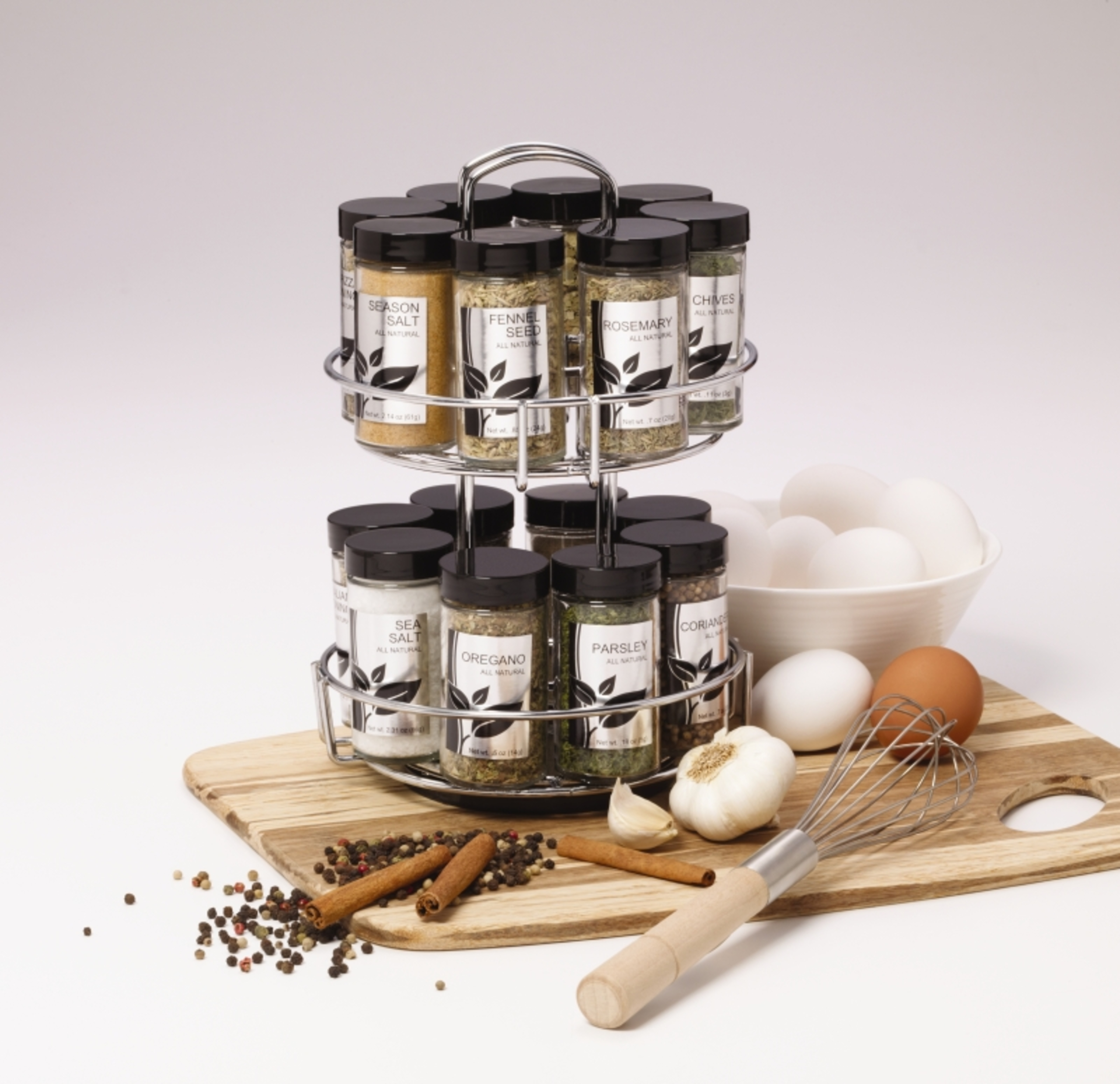 Kamenstein 16-Jar Revolving Chrome Wire Spice Rack