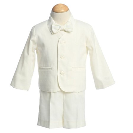 Boys Ivory Eton Short Formal Wear Ring Bearer Easter Suit 12M-4T - Ring Bearer Outfits