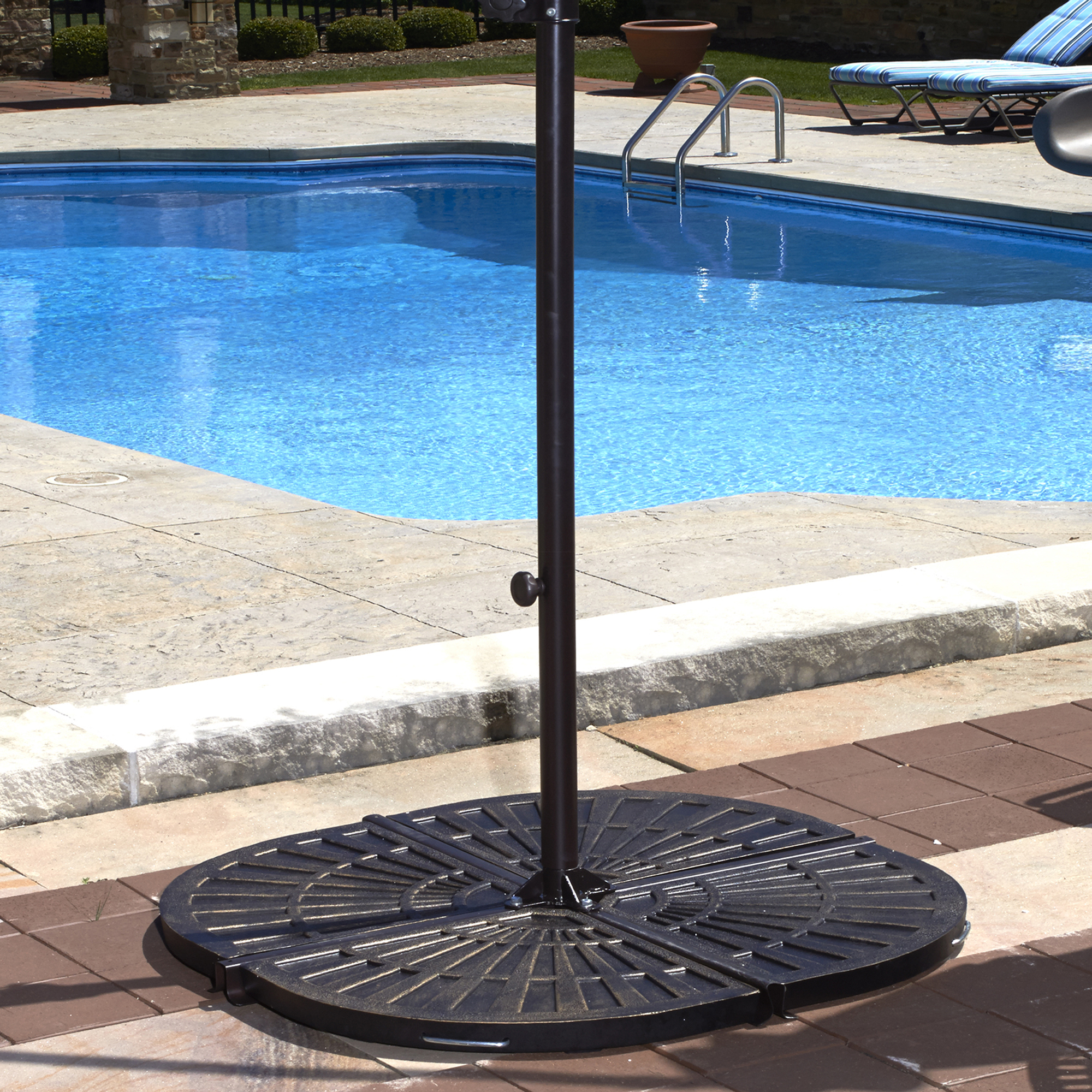 Island Umbrella (4) 30-lb Resin Umbrella Base Weights in Bronze by Blue Wave