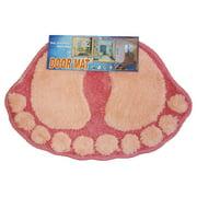 Store51 Llc 12440965 Foot Prints Pink Shaggy Accent Floor Rug Door Mat