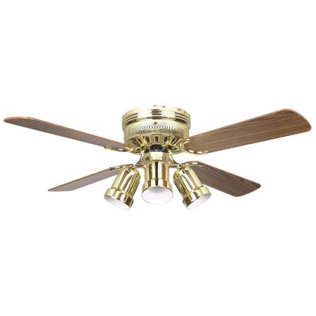Concord 42HUG4-Y408 4 Blade 42 Inch Hugger Indoor Ceiling Fan with Bullet (Concord Fans Ceiling Lighting)