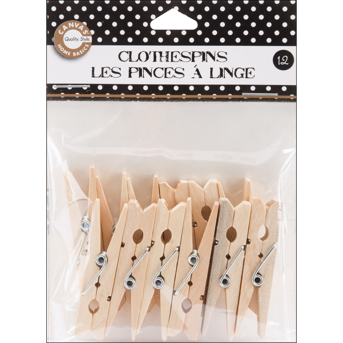 "Small Clothespins 2"" 12/Pkg-Natural"