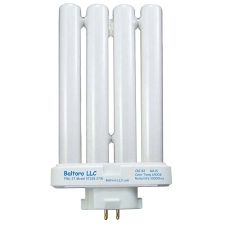 FML27/50 27 Watt Linear Quad Compact Fluorescent (CFL) Replacement Bulb for Sunlight desk or floor lamps FML27/EX-D FML27EX/N by Baltoro LLC, Model: SL5733B