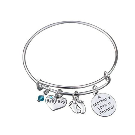 Mom Bracelet, Mom Son Charm Bracelet Makes the Perfect New Mom Gift, Baby Shower Gift or Baby Gift
