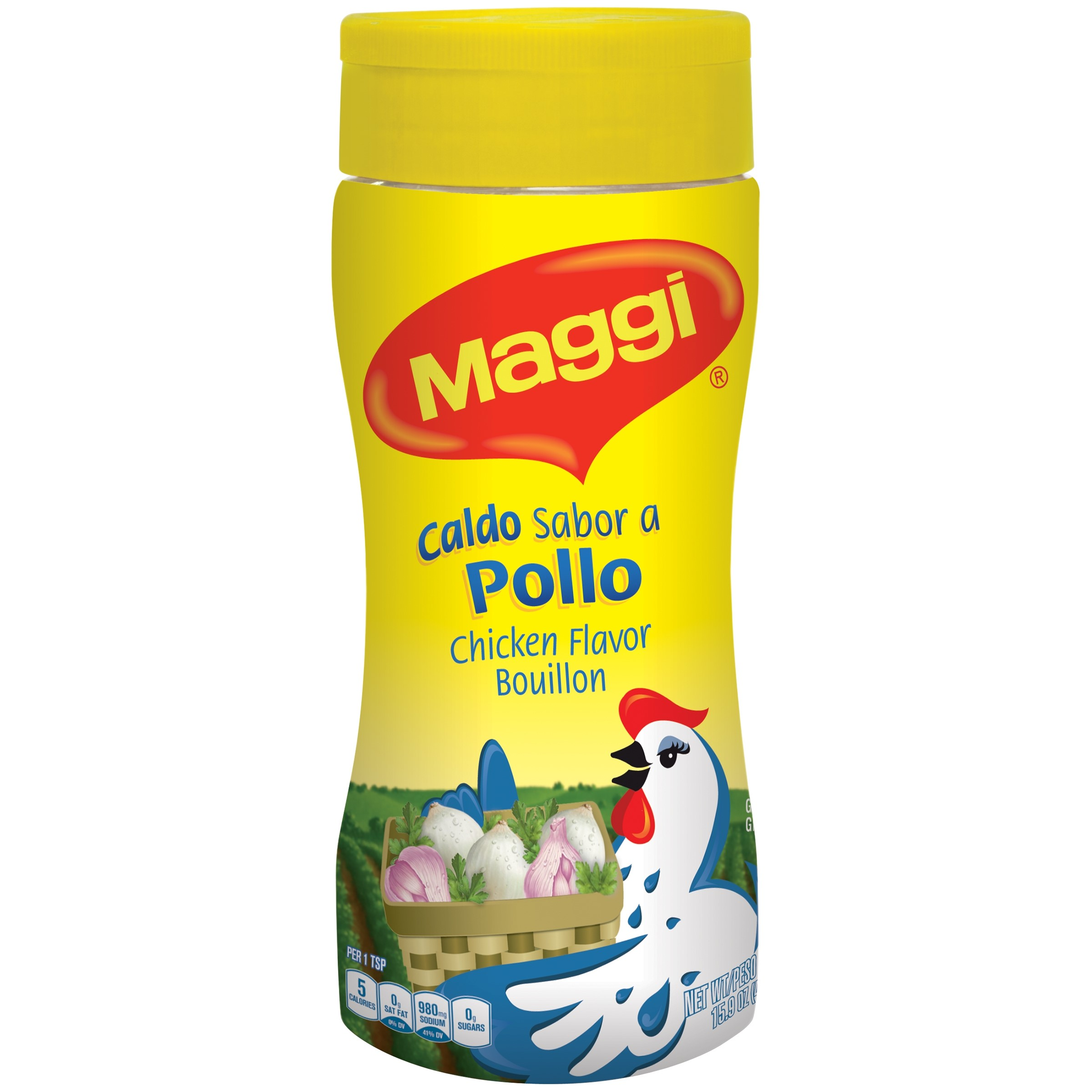 MAGGI Granulated Chicken Flavor Bouillon 15.9 oz. Jar