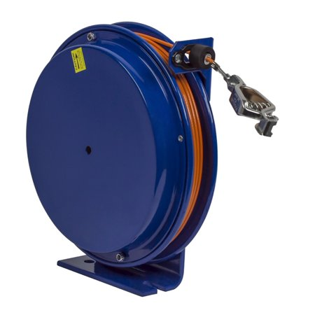 (COXREELS SD-50-1 Static Discharge Reel w/ 50' of SS Cable Spring Rewind)