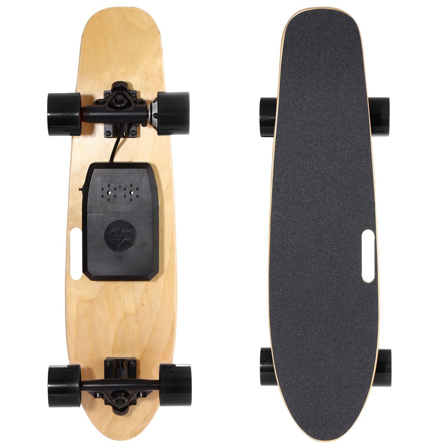 Adults and Boys Electric Skateboard Bluetooth Board with Remote Controller FOR 60kg BLLK by