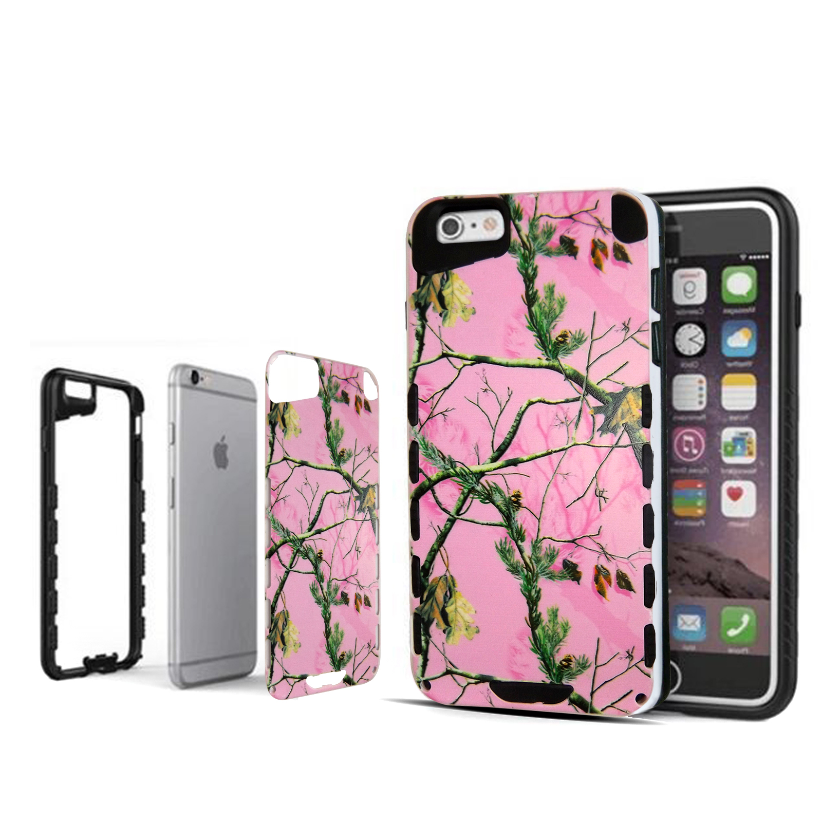 info for 983aa 5b37a Pink Camo Mozy Hybrid For iPhone 6 Advanced Ultra Shock Proof Lightweight  case Drop Protective Case Cover TPU+PC Case Shock Absorb Enhanced Bumper ...