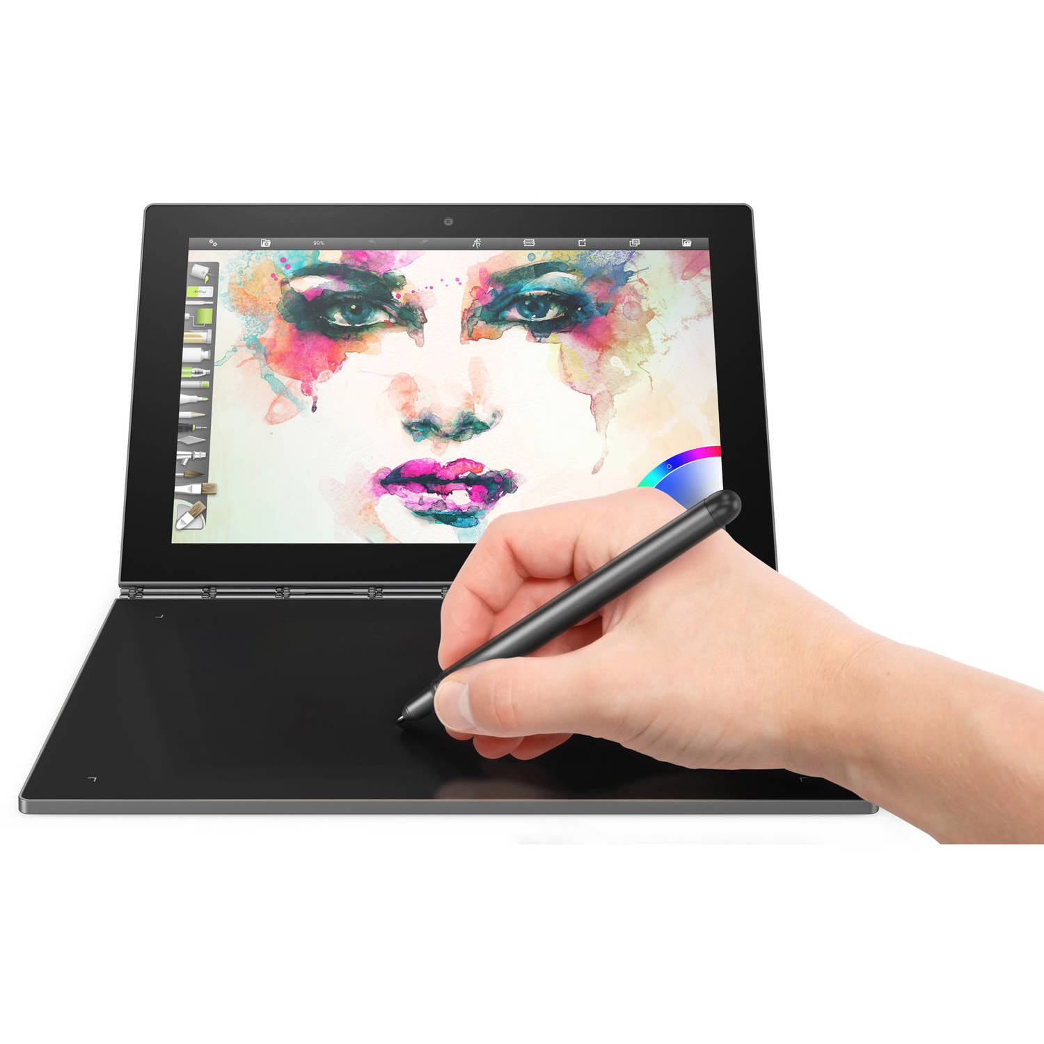 "Lenovo Yoga Book with WiFi 10.1"" Touchscreen Tablet PC Featuring Android 6.0.1 (Marshmallow) Operating"
