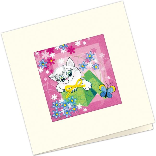 5.5 x 5.5 in. Gift Card Counted Cross Stitch Kit