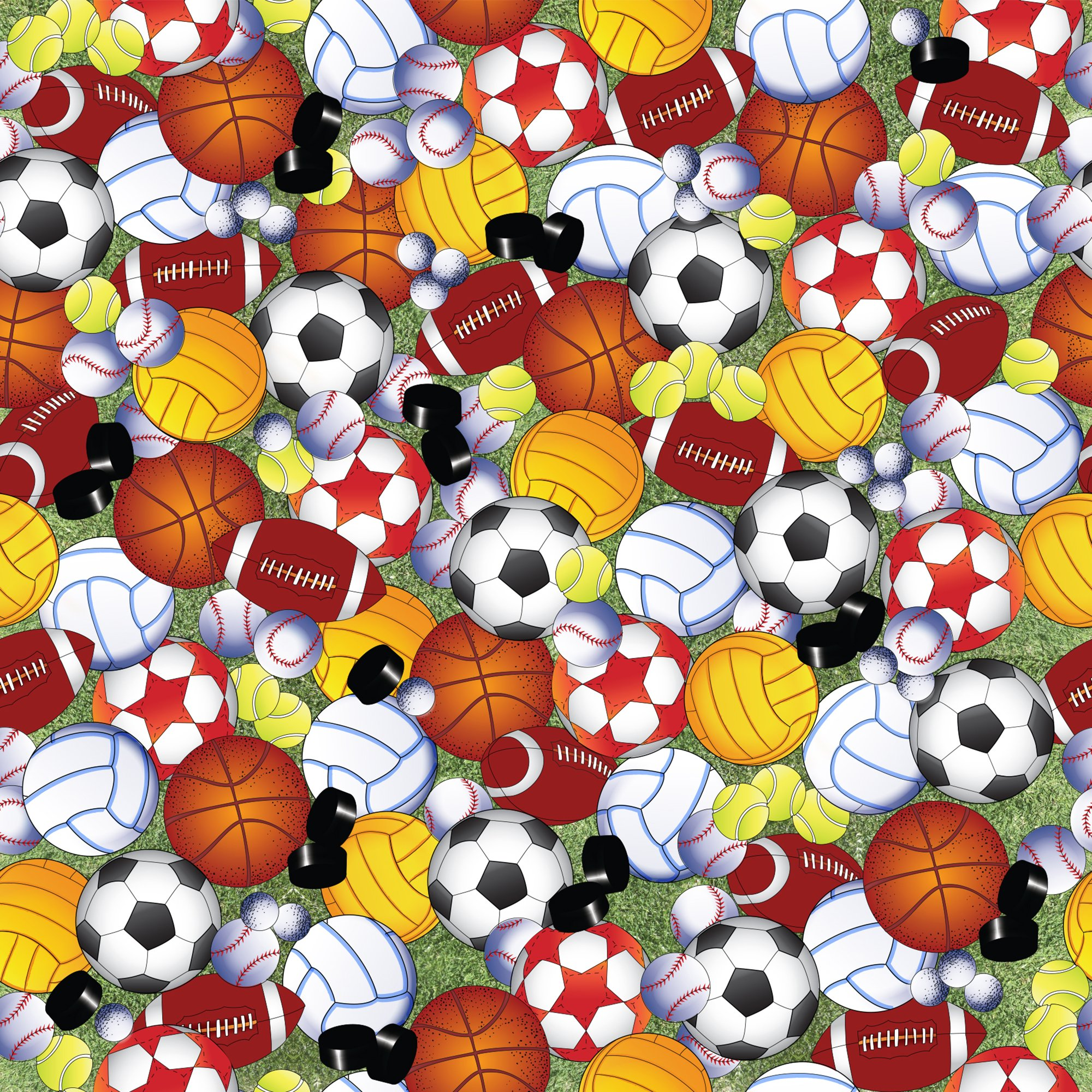 Jillson & Roberts Gift Wrap, Play Ball (8 Rolls 5ft x 30in)