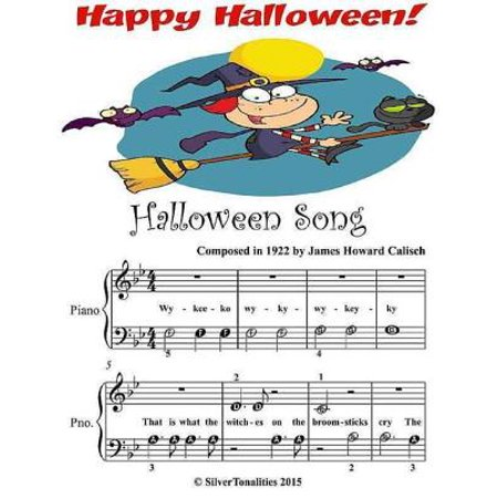 Halloween Song - Beginner Tots Piano Sheet Music - eBook - Halloween Piano Sheet Music For Kids