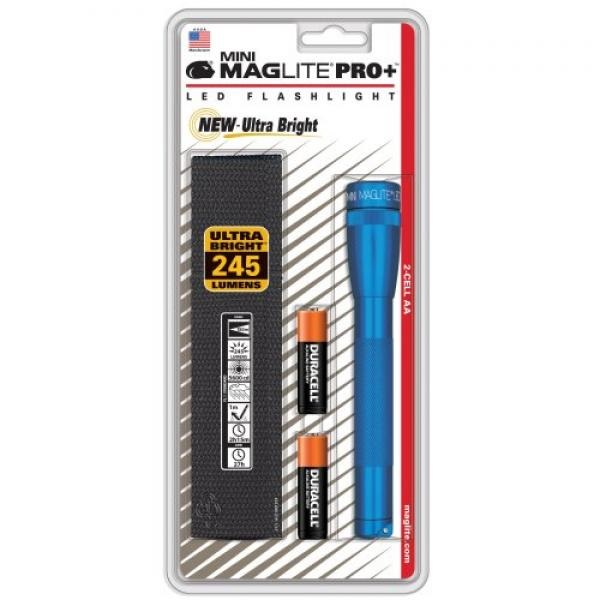 Mag Instrument Mini Maglite LED 2 Cell AA Pro+, Blue by