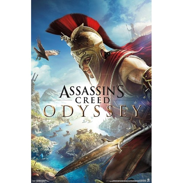 Assassin S Creed Odyssey Fight Poster Print 22 X 34 Walmart Com Walmart Com