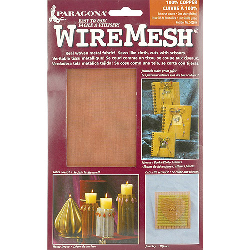 "WireMesh #80 16"" x20"" Sheet, Copper"