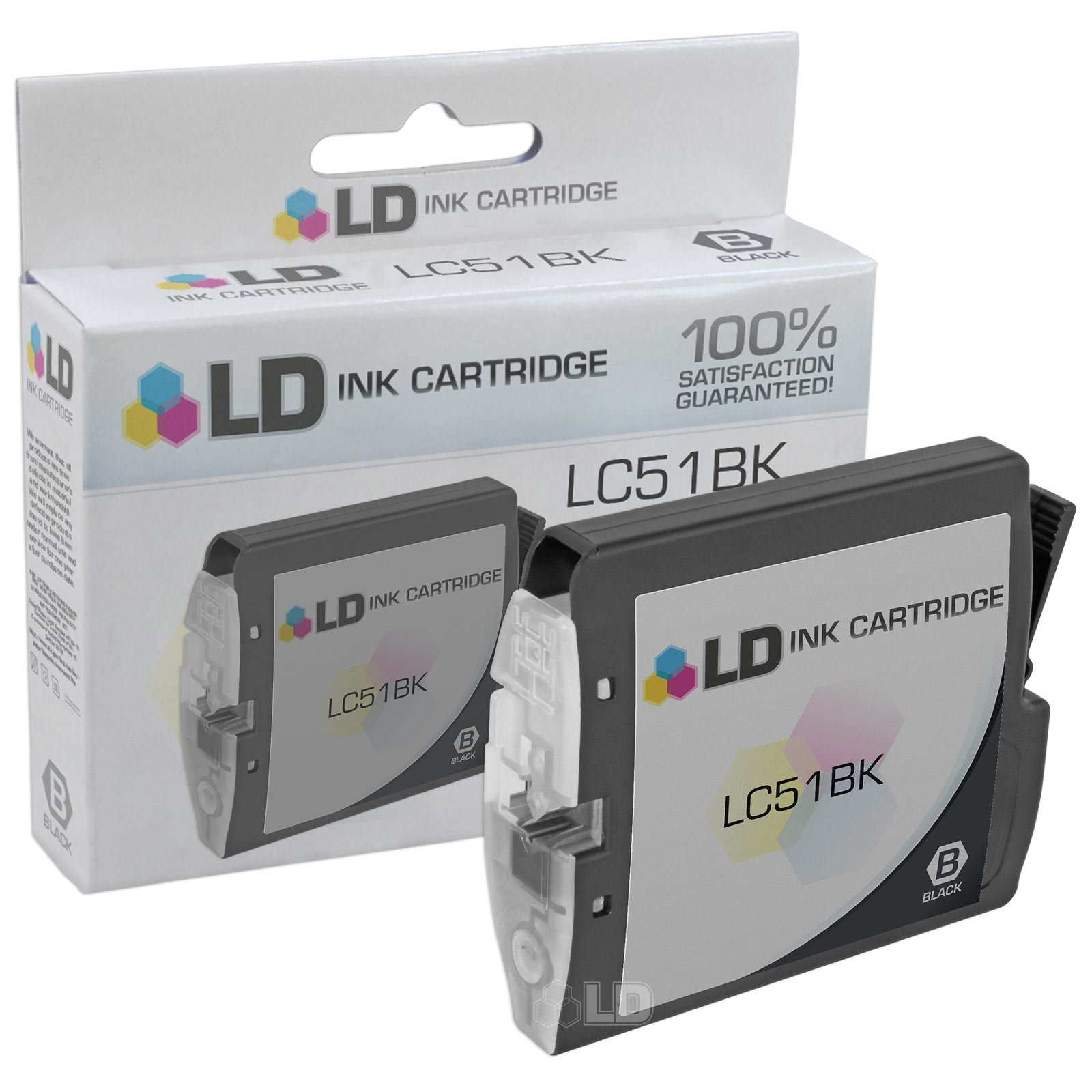 LD Compatible Replacement for Brother LC51BK Black Inkjet Cartridge