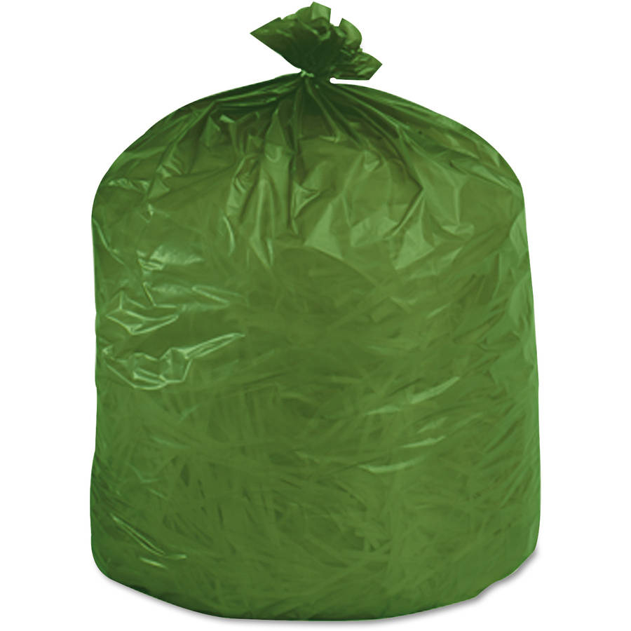 Stout Ecosafe6400 Green Compostable Bags, 38 gal, 48 ct