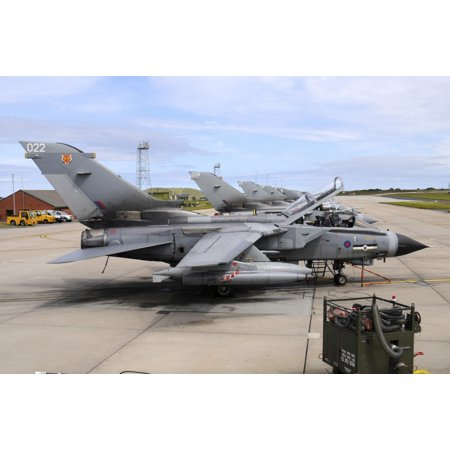 - Tornado GR4 of the Royal Air Force at RAF Lossiemouth Stretched Canvas - Riccardo NiccoliStocktrek Images (34 x 23)