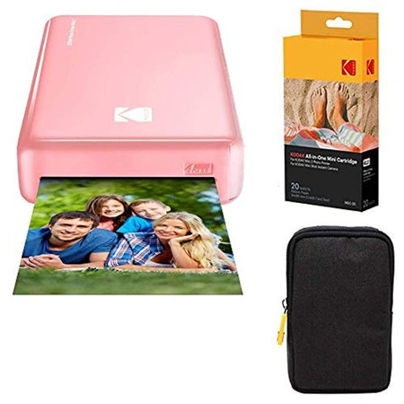 - Kodak Mini2 Instant Photo Printer (Pink) Basic Bundle + Paper (20 Sheets) + Deluxe Case