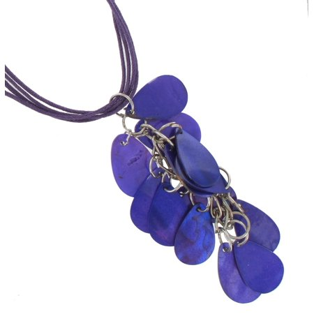Necklace Pendant Sexy Mother Of Pearl Tassel Chandelier Purple
