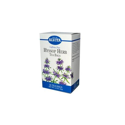 Alvita Caffeine Free Hyssop Herb Tea - 24 Tea Bags