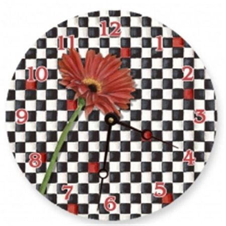 Lexington Studios 23093R Gerber Checker Round Clock