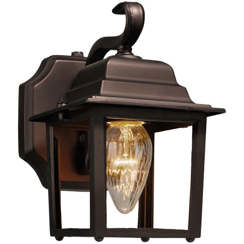 Brinks Outdoor Dusk to Dawn Wall Lantern, Oil Rubbed Bronze