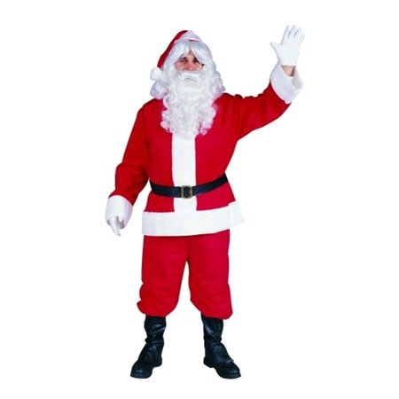 Plush Santa Claus Suit Costume - Size - Fits Up To 40 Inch Waist