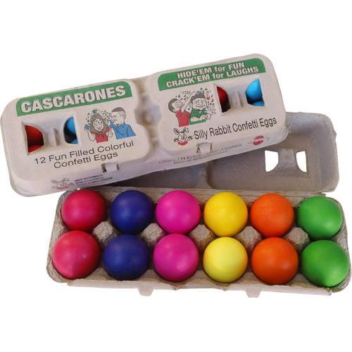 Silly Rabbit Confetti Eggs, Cascarones, 1 Doz