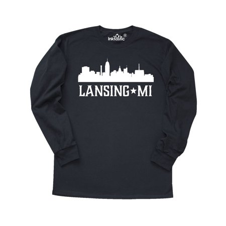 Lansing Michigan Skyline MI Cities Long Sleeve T-Shirt