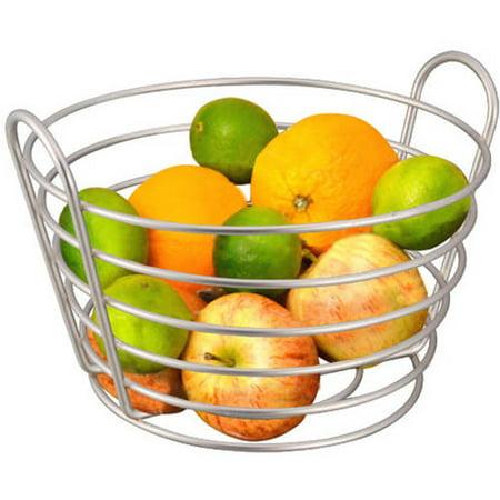 Home Basics Satin Nickel Fruit Basket