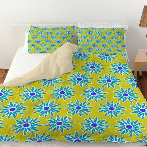 Manual Woodworkers & Weavers La Roque Summer Starburst Duvet Cover