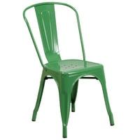 Flash Furniture Metal Indoor-Outdoor Stackable Chair, Multiple Colors
