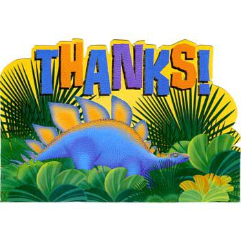 Dinosaur Party Thank You Notes (8-pack) - Party Supplies