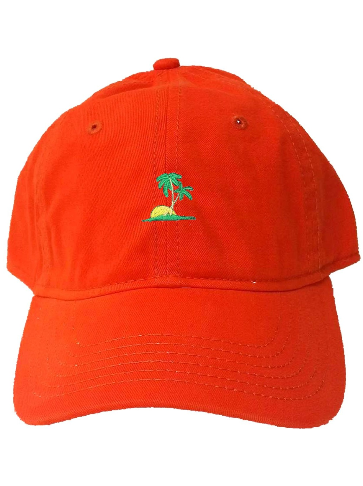 Go All Out Adult Palm Tree Embroidered Visor Dad Hat