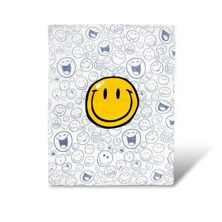 OFFICIAL Smiley World Soft Throw Blanket   Cute Plush Blanket   50 x 60 Inches Official Throw Blanket