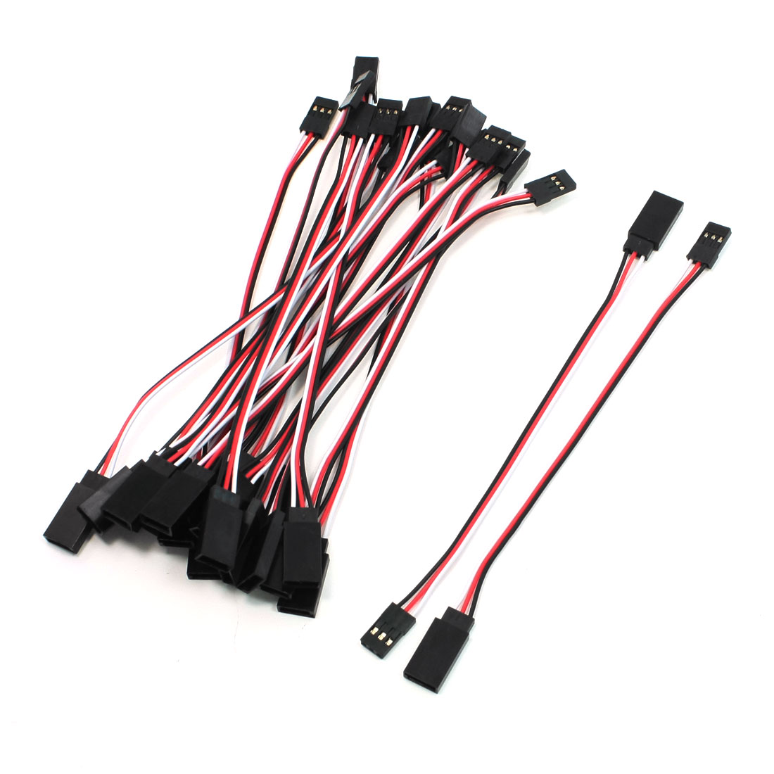 20 Pcs 13cm Male to Female 3pin M/F Servo Extension Cable for Futaba JR