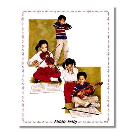 Follies Girl (African American Black Boys Girls Fiddle Folly Wall Picture 8x10 Art Print)