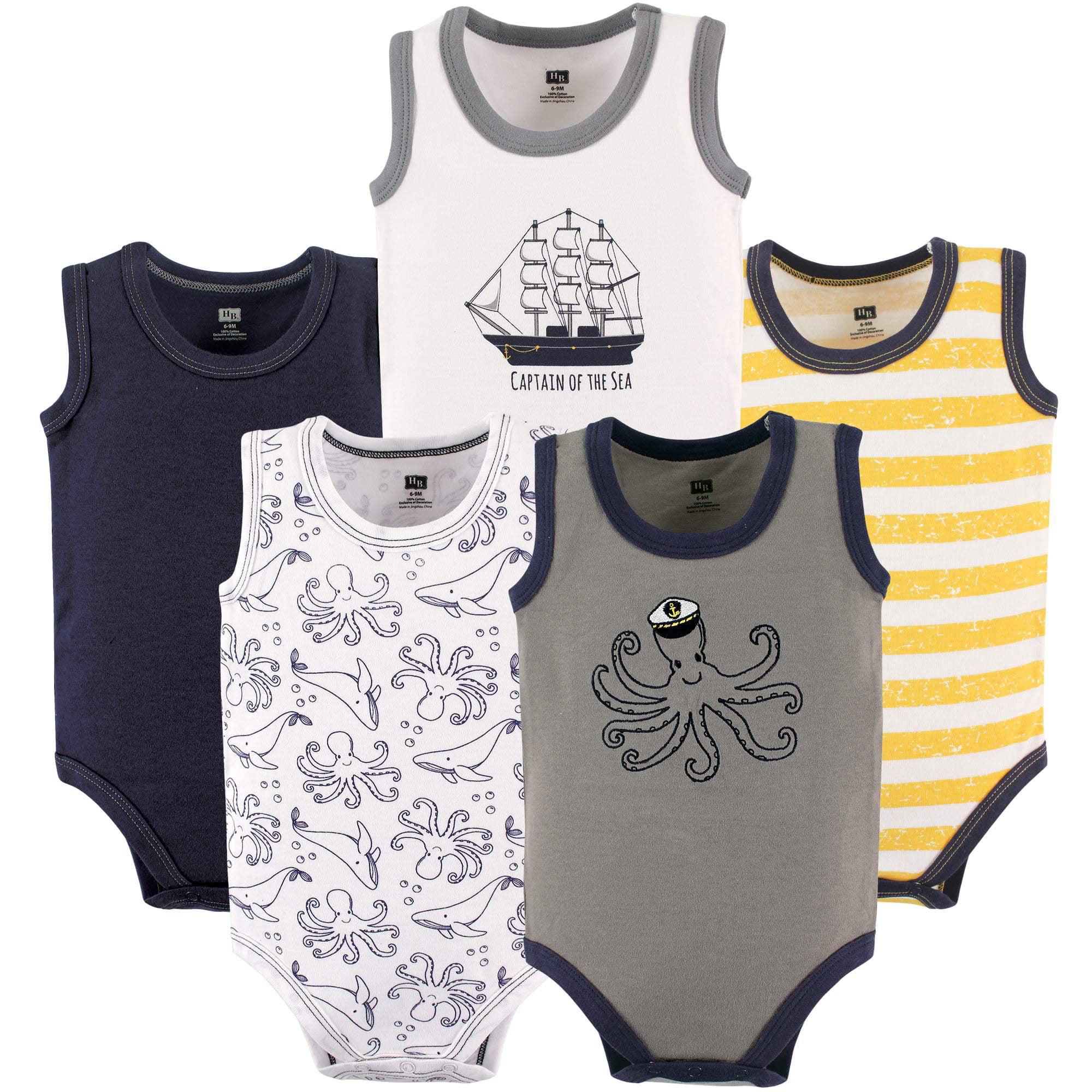 Essentials Boys Baby 6-Pack Sleeveless Bodysuits