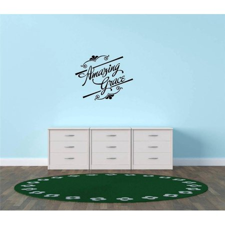 Custom Wall Decal Vinyl Sticker : amazing grace Quote Home Living Room Bedroom Decor 10x20 Inches](Grease Decor)