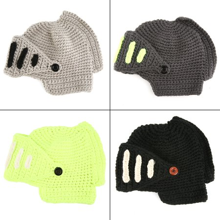 84e7efb387d Unisex Winter Warm Crochet Knit Beanie Woolen Roman Knight Mate Hat Cap  Mask - Walmart.com